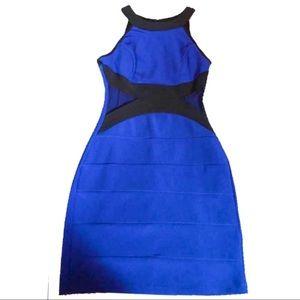 CRYSTAL DOLL Bandage Mesh Bodycon Sheath Dress